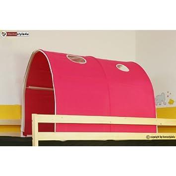 Homestyle4u 556 Kinder Tunnel Fur Hochbett Pink Rosa Baumwolle