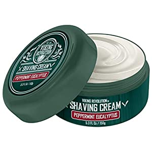 Luxury Shaving Cream Peppermint & Eucalyptus Scent – Soft, Smooth & Silky Shaving Soap – Rich Lather for the Smoothest Shave – 5.3oz