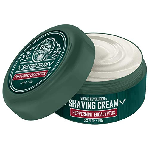 Luxury Shaving Cream Peppermint & Eucalyptus Scent - Soft, Smooth & Silky Shaving Soap - Rich Lather for the Smoothest Shave - 5.3oz