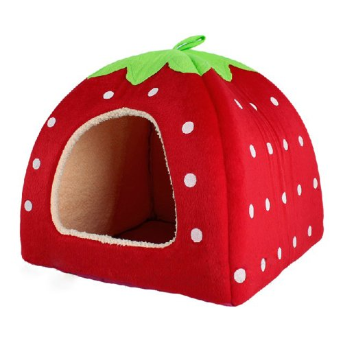 Pet line Sponge Strawberry Cushion Basket