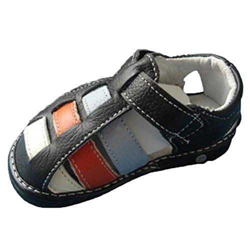 Ohmais Kinder Baby Jungen Baby Kleinkind Schuh Leder weich Schwarz