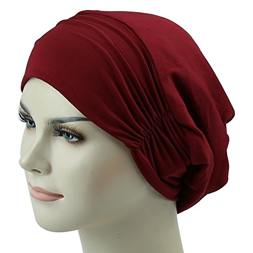 Night Cap Slouchy Headwear For Frizzy Women Curly Hair Satin Lined (Lined Bonnet)
