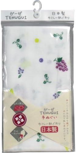 川本産業 ガーゼ手拭フック帯ブドウ 1枚