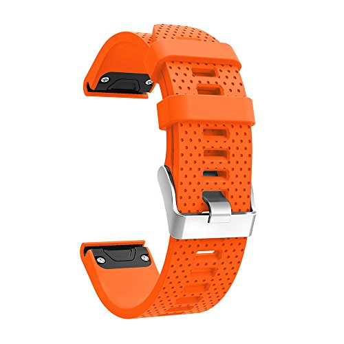 Garmin Fenix 5S Bands,Quick Install Band Silicone Replacement Accessories Straps for Garmin Fenix 5S GPS Smart Watch (No Garmin Watch Included) (Fenix 5S ()