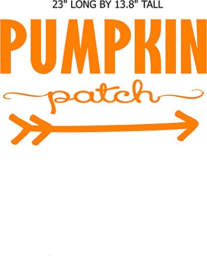 (Pumpkin Patch with arrow, fall decor, Walls with Style, thanksgiving Halloween decal)