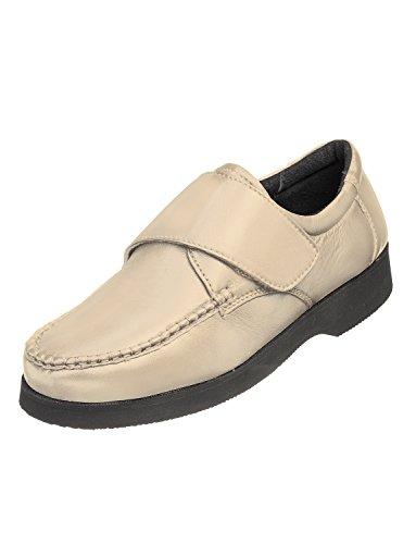Mocassin De Hommes Style Confort Touch & Chaussure Étroite Velcro