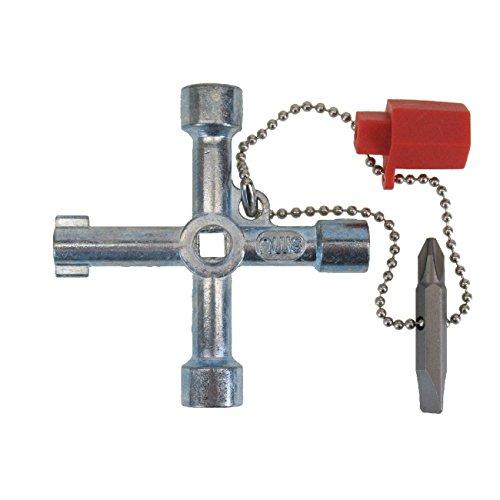 HaWe Schaltschrankschlüssel Universal für alle gängigen Absperrsysteme | Zink-Druckguß | Größe 71mm