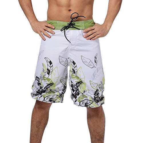 (Landscap_Men Quick Dry Swimwear, 3D Printed Shorts Recreational Sports Beach Swim Trunks (Green,S))