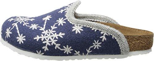 Birkenstock Kids Girl's Amsterdam (Toddler/Little Kid/Big Kid) Snow Stars Blue Wool Felt Clog/Mule 34 (US 3-3.5 Little Kid/Big Kid) Narrow