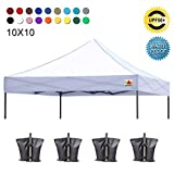 (23+ colors)100% Waterproof AbcCanopy 10x10 Replacement Top Cover for 10x10 Pop up Canopy