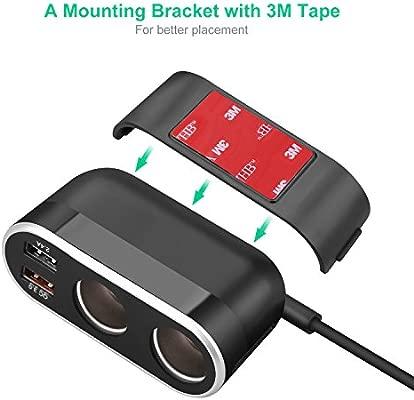 Te-Rich Caricabatterie Auto Accendisigari USB Quick Charge 3.0,Caricatore Auto Alimentatore DC Uscita Splitter con 5.4 A,Doppia Porta USB per ...