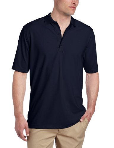 Mens Pique Golf Polo - Greg Norman Men's Protek Micro Pique Polo, Navy, XX-Large