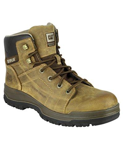 Neue Dimen Plus Hi Caterpillar Herren Sicherheitsstiefel robuste Work, Dark Beige, Schuhe
