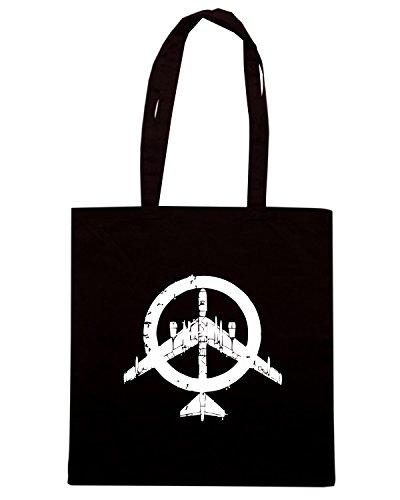 T-Shirtshock - Bolsa para la compra FUN0190 07 28 2013 Peace Bomber Flashback T SHIRT det Negro