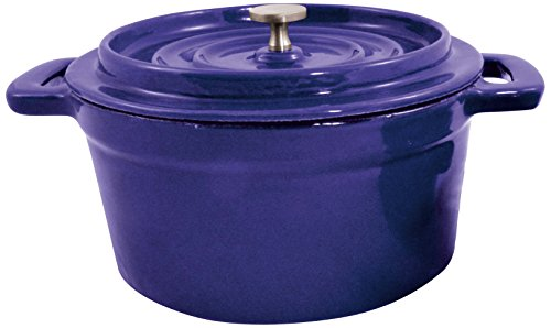 Paderno World Cuisine Mini Blue Enamel Dutch Oven, 29-Ounce (Dutch Oven Small compare prices)