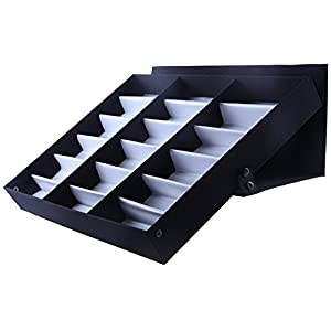 Juvale Eyewear Storage Tray Display Case - 18 Slots Eyeglasses Sunglasses - 18.5 x 14.25 x 2.5 Inches