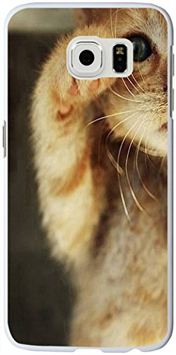 S6 Edge Case, Samsung Galaxy S6 Edge Case cute lovely little cat greeting