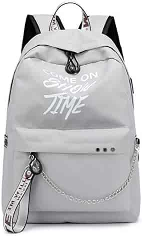 78480550e4 Backpack purse for Women School Casual Daypacks for Girls Cute Bookbag  Students School Backpack Silver