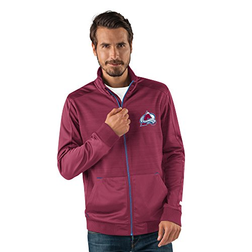 - G-III Sports NHL Colorado Avalanche Men's Progression Full Zip Track Jacket, Large, Maroon