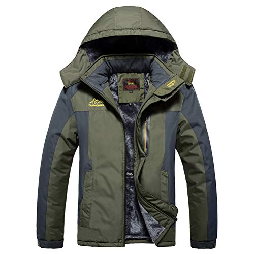 MAGCOMSEN Men s Water Resistant Mountain Ski Jacket Fleece Lined Windproof  Jacket Coat with Hood d99ab10a3