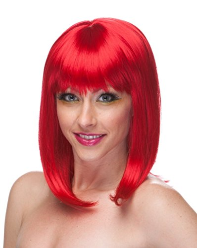 Sexy Red Hair Costume Wig and Short Hair Wigs for Women-Anime Wigs Red and Costume Wigs for Women Will Bring Out the Rihanna Red Wig,Paula Young in All of Us-Red Wigs for Women with Red Wig Bob (Red Wig With Bangs)