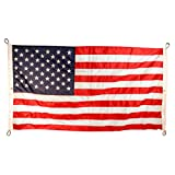 Cheap Valley Forge American Flag 12ftx18ft Sewn Nylonflag Fly End Corners Only