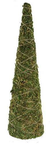 Renaissance 2000 Cone Tree with Moss, 18-Inch