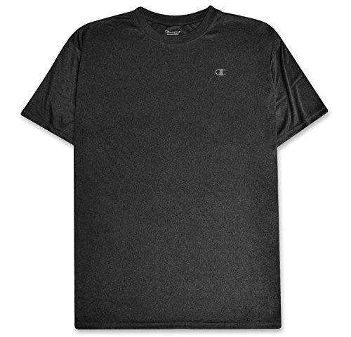 4x 4xl T-shirt - Champion Mens Big and Tall C Vapor Moisture Wicking Short Sleeve Crewneck Performance T-Shirt Charcoal/Heather 3X
