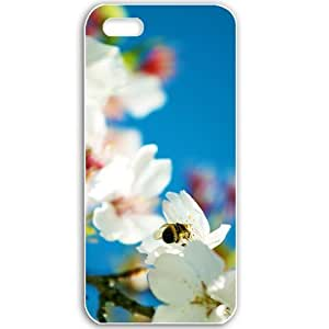 Apple iPhone 5 5S Cases Customized Gifts For Flowers spring bee Flowers Black