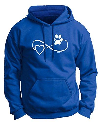 Dog Cat Lover Gift Infinite Love Infinity Symbol Premium Hoodie Sweatshirt Small Royal