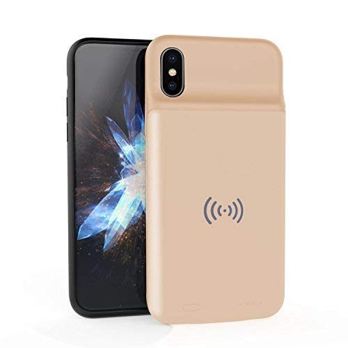 BBtech Battery Case Slim Case 3600mAh Rechargeable Charging Case Portable Extended Backup Power Cover with Wireless Chaging Function with Magnet Compatible iPhone X XS
