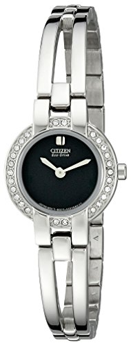 Citizen Women's EW9990-54E Silhouette Stainless Steel Eco Drive Bangle - Bangle Drive Eco Bracelet Ladies