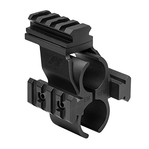 NcSTAR Shotgun Barrel/Mag Tube Micro-Dot/Rail Mount, Black, Remington 870