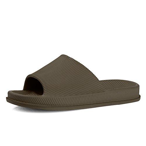 EQUICK Premium Women and Men Bath Slipper Anti-Slip For Indoor Home House Sandal 01coffee th5TAF7O