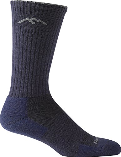 Darn Tough Vermont In-Town Series Men's Standard Issue Crew Socks Cushion, Navy, Large
