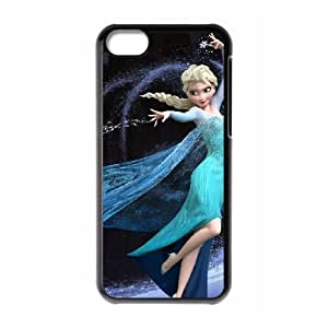 Frozen Disney Cartoon Elsa And Anna iphone 5C Cell Phone Case Black Phone Accessories JV167095