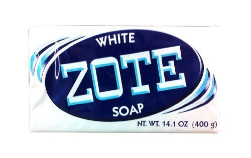 Zote White Laundry Bar Soap, Net WT 14.1 oz, (Pack of 4)