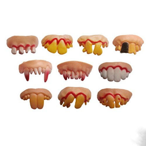 10 Pcs Ugly Fake Teeth Costume Party Funny Halloween Gag, Halloween Decoration -