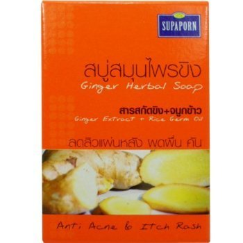 ginger-extract-rice-germ-oil-herbal-soap-anti-acne-itch-rash-natural-net-wt-100-g-353-oz-supaporn-br