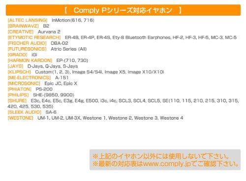 Comply Foam Premium Earphone Tips - Professional P-Series (Medium, Platinum, 3-Pair)