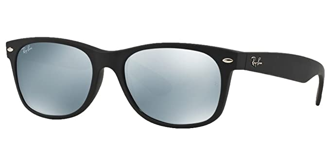 efea7c8848 Image Unavailable. Image not available for. Color  Ray-Ban RB2132 New  Wayfarer Sunglasses Unisex (Matte Black Frame Mirror Silver Lens