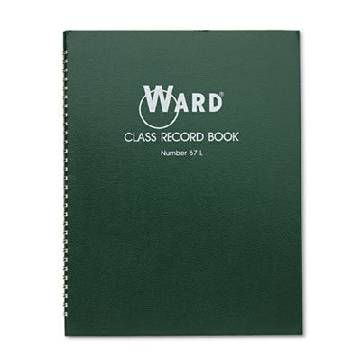 Class Record Book, 38 Students, 6-7 Week Grading, 11 x 8-1/2, Green, Sold as 1 Each, 30PACK , Total 30 Each