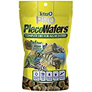 Tetra PRO PlecoWafers 5.29 Ounces, Nutritionally Balanced Vegetarian Fish Food, Concentrated Algae Center