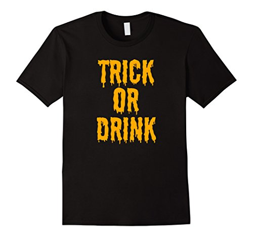 Alcohol Themed Halloween Costumes (Mens Trick or Drink | Funny Alcohol Beer Themed Halloween T-Shirt Medium Black)