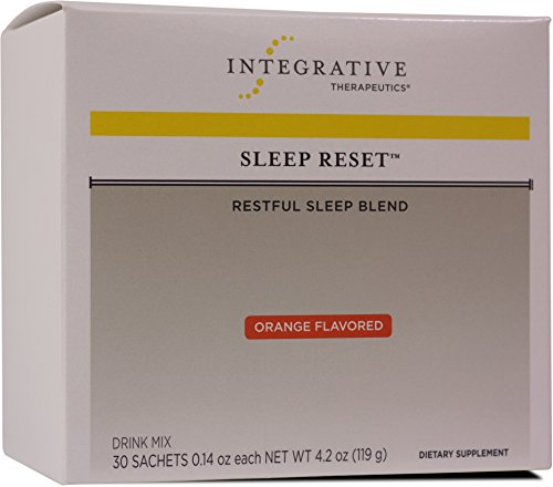 Healthy Sleep Support - Integrative Therapeutics - Sleep Reset - Restful Sleep Blend - Melatonin, Glycine, L-Theanine, 5-HTP, Theracurmin, and More to Support Sleep & Healthy Stress Response - Orange Flavor - 30 Sachets
