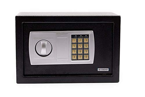 Wall Security Safe Box Electronic Digital Lock for Gun Cash Jewelry Valuable Storage, 0.44 Cubic Feet