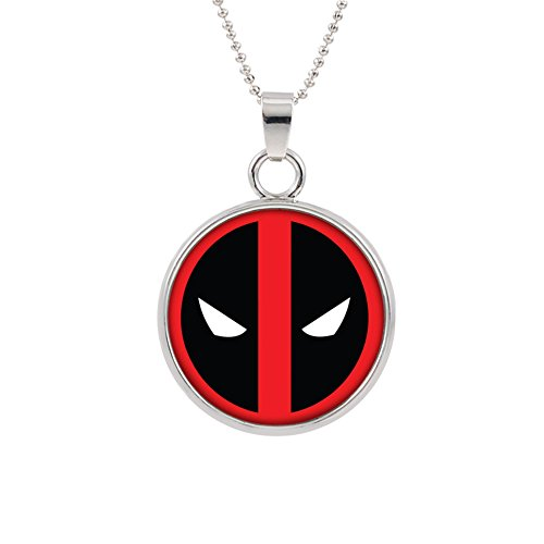 Deadpool Logo Necklace Pendant Marvel Comics 2018 Movies Cartoon Superhero Theme Ryan Reynolds Premium Quality Detailed Cosplay Jewelry Gift Series -