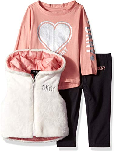 DKNY Baby Girls 3 Piece Heart T-Shirt,