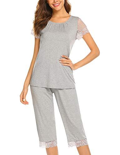 Ekouaer Sleepwear Pajamas Set Women