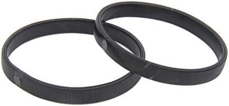 メンズ シャツスリーブ ホルダー スプリング式 アームバンド 裾丈調整用 3色選べる - ブラック